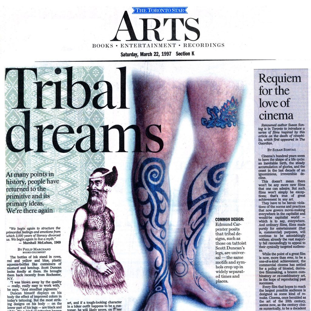 <p>Tribal Dreams<br /> Toronto Star 1997-03-22</p>